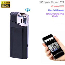 WIFI Lighter Camera, HD1080P, 1.3M OV9712 Camera, Battery Time 50min, SD Card Max 128G (SPY279)
