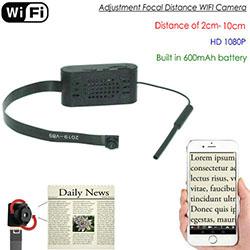 Regulacja ogniskowej WIFI Pinhole Camera, HD1080P, Focal 2cm-10cm, 600mAh (SPY292) - S $ 288