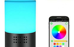 WIFI lamp kamera, HD 1080P, 7 kleur LED lig, Super Night Vision, amazon Alexa - 1 250px