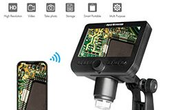 WIFI Microscope Camera, 4.3inch LCD, 2.0MP Camera, 8pcs White LED, 50-1000X - 1 250px