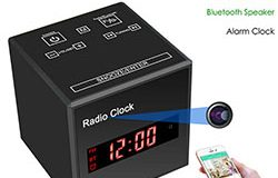 SPY297 - WIFI 시계 카메라, WIFI 카메라 + 시계 + Bluetooth 스피커 + FM 라디오, Nightvision 01 - 250x