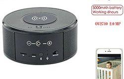 SPY300 - WIFI камера за високоговорители, безжично зарядно + Bluetooth високоговорител 00
