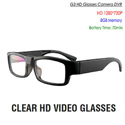 SPY302 – Lawmate Glasses Camera, HD1280*720P/30fps, Built in 8G Memory, Battery Recording Time 70mins