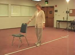 Fall prevention exercises for seniors - Heel - to - toe walking