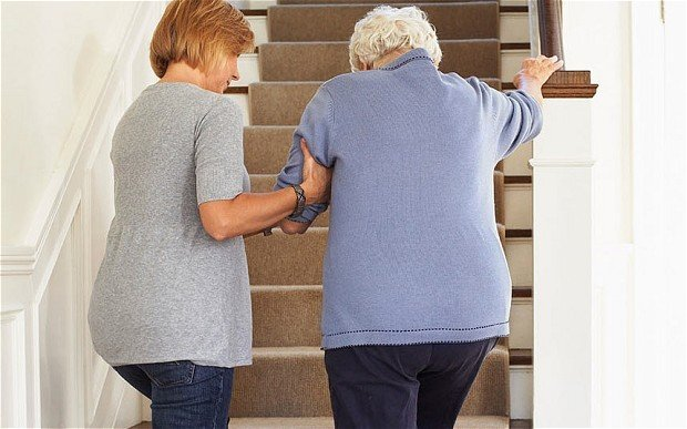 How to safely help an elderly from a fall?