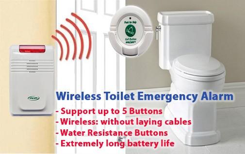 Wireless Toilet Emergency Alarm