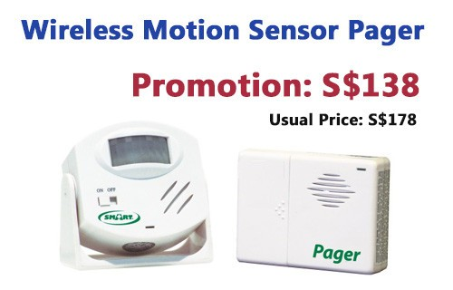 Promotion: Wireless Motion Sensor Pager