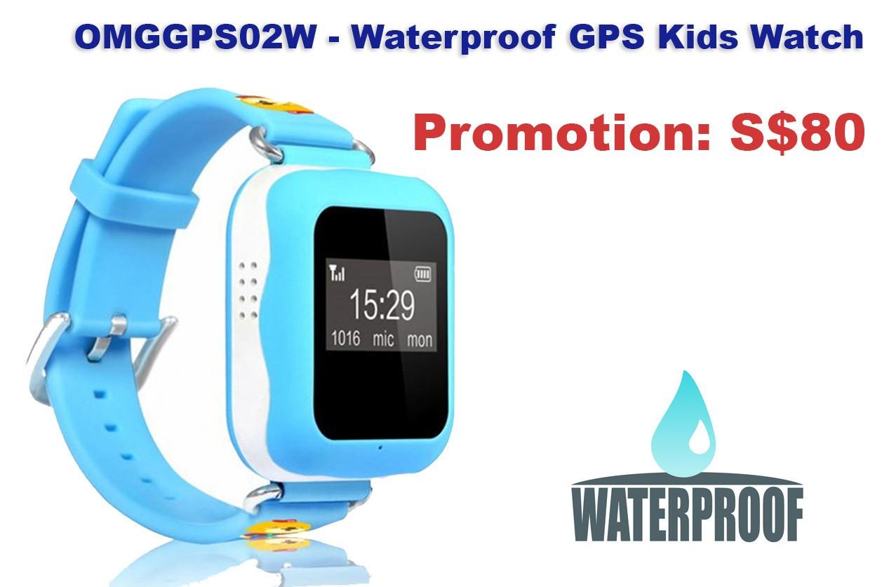 OMGGPS02W - GPS Tracker Watch for Kids (Waterproof IP67)