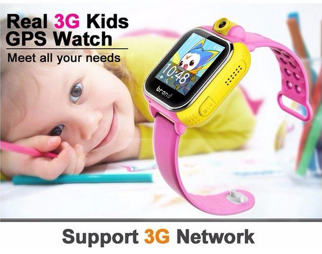 Waterproof 2.0MP Camera Child 3G GPS Tracker Watch LBS +GPS+AGPS+WIFI Positioning Smart Kids Watch