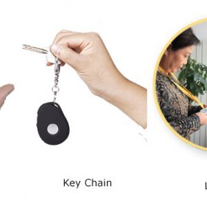 iHelp 2 - GPS Tracking Keychain, Waterproof , Motionless & fall Detection (Elderly with Dementia)