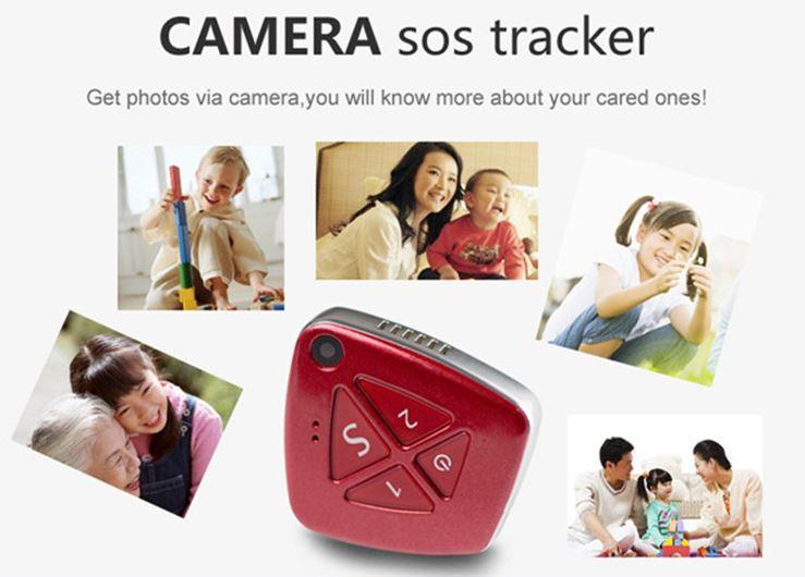 3G Pendant GPS Tracker Demence Olderly - Kids - SOS 2 ceļu izsaukšana un kamera iekštelpu izsekošanai