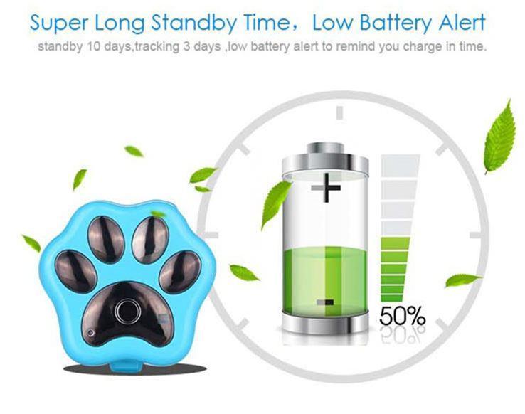 3G Pet GPS Tracker - Super Long Standby Time, Low Battery Alert