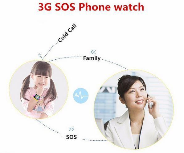 3G WCDMA GPS Smart Watch Tracker For Kids