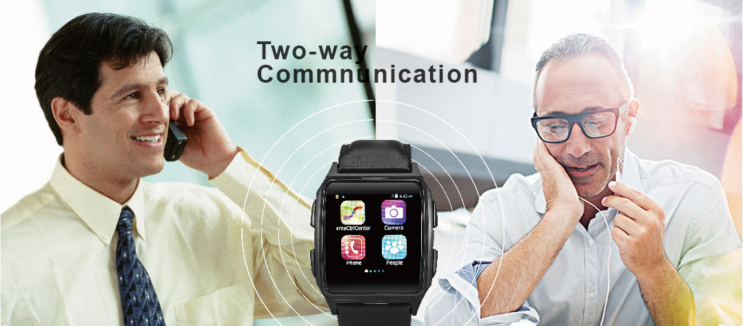 GPS Tracker Phone Watch for Elderly - 2-Way-Communication - Make Phone Call