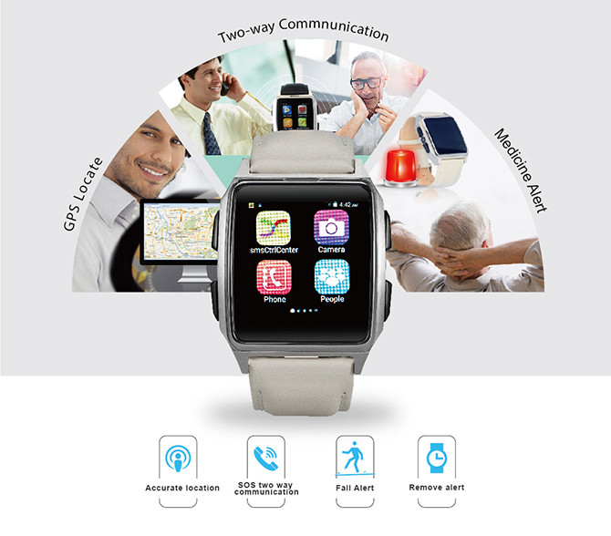 GPS Tracker Phone Watch for Elderly