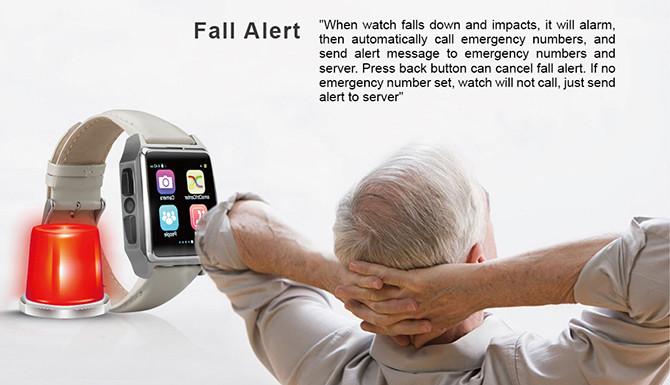 GPS Tracker Phone Watch for Elderly - Fall Alert