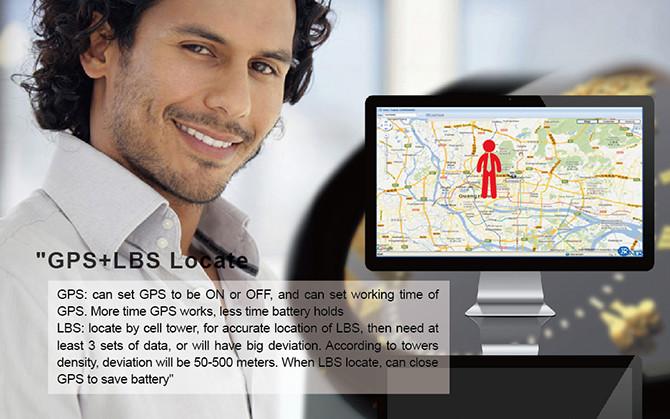 GPS Tracker Phone Watch for Elderly - GPS + LBS Locate 670x