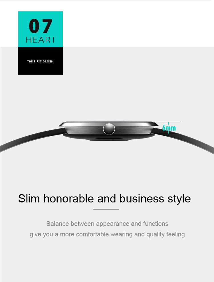 Health Wrist Watch [OMGHW02] - Slim Honorable and Business Style