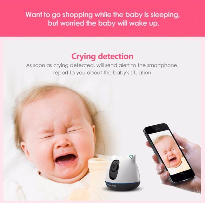 iBear - Baby - Elderly Safety Monitor IP Camera CCTV - Crying Detection