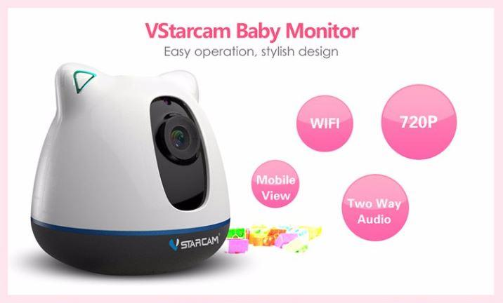 iBear - Baby - Elderly Safety Monitor IP Camera CCTV - Easy Opration, Stylish Design