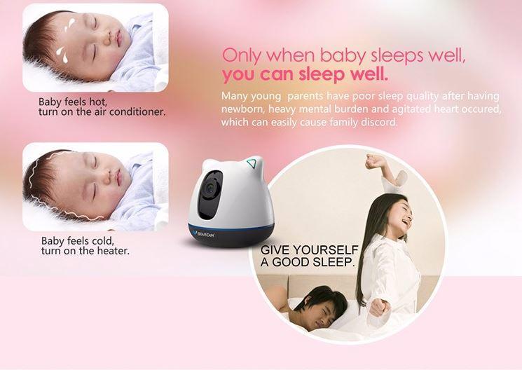 iBear - Baby - Matatanda sa Kaligtasan Monitor IP Camera CCTV - Tanging kapag pagtulog ng sanggol maaari mong matulog na rin