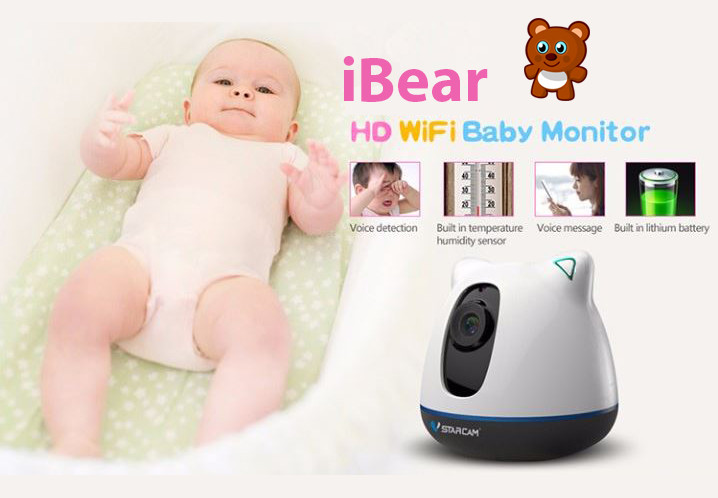 iBear - Bebo - Elderly Safety Monitor IP-fotilo Wifi CCTV