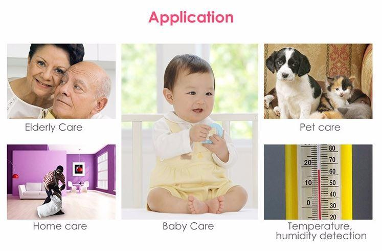 iBear - Baby - Elderly Safety Monitor IP Camera Wifi CCTV - Application