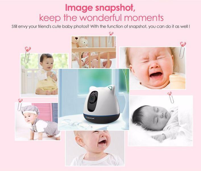 iBear - Baby - Matanda Kaligtasan Monitor IP Camera Wifi CCTV - Imahe Snapshot, Panatilihin ang kahanga-hangang sandali