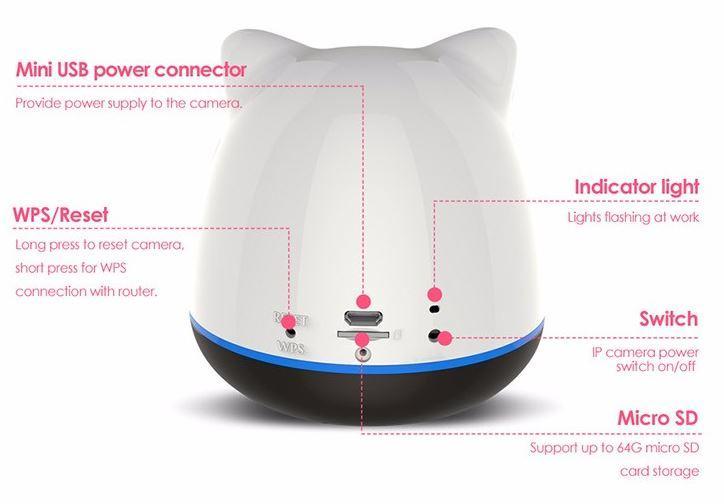 iBear - Baby - Matatanda sa Kaligtasan Monitor IP Camera Wifi CCTV - Disenyo ng Produkto 02