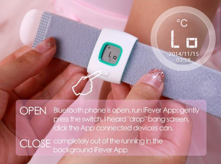 iFever - Intelligent Thermometer - Easy to wear one step 03