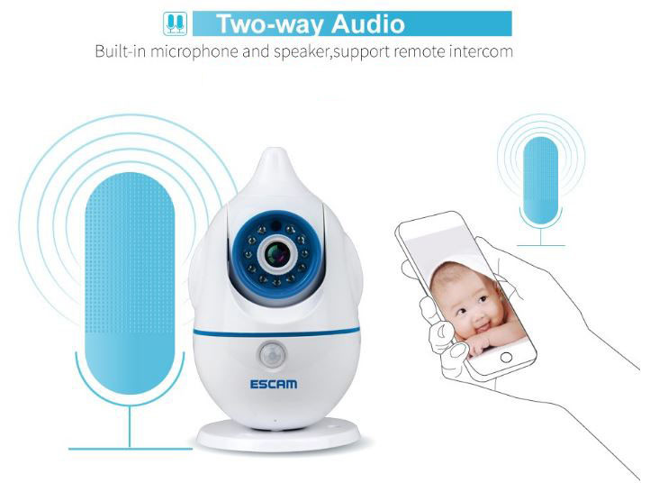 iPenguin - Baby-Elderly Safety Monitor IP Camera CCTV - 2-Way Audio