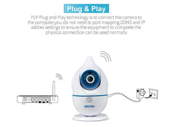 iPenguin - Monatóireacht a dhéanamh ar Shábháilteacht Leanbh-Aosach CCTV Ceamara IP - Plug-n-Play
