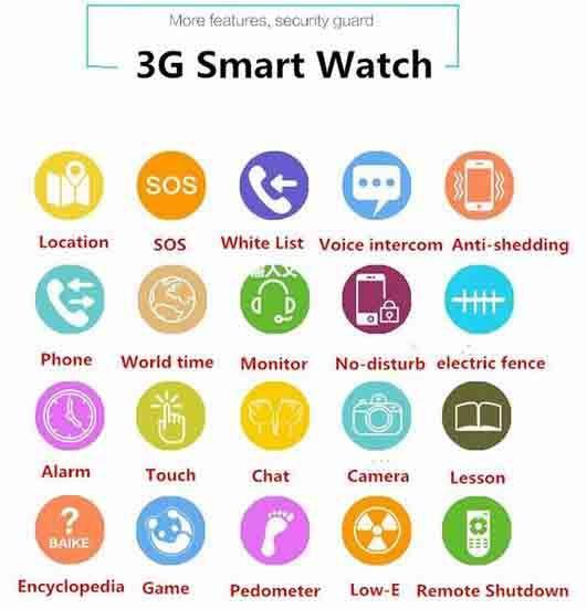 3G Kids GPS Tracker Watch - Haurangi Electronic - Ngā āhuatanga LR