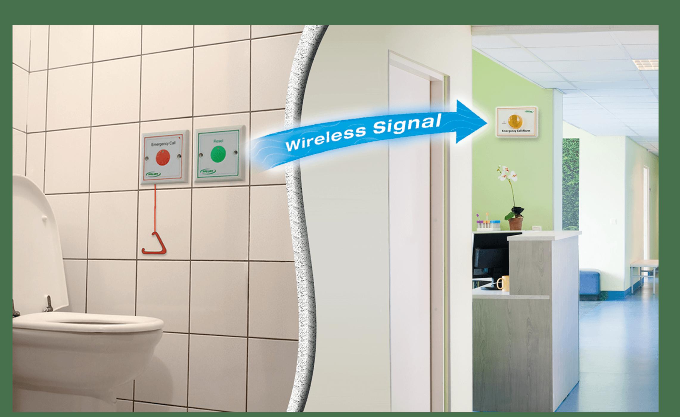 Handicap Elderly Toilet Emergency Alarm - Call Button n Light System