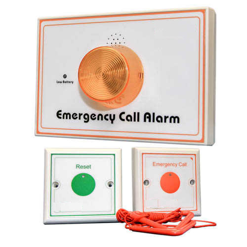 Toilet Emergency Alarm - Call Button & Light System