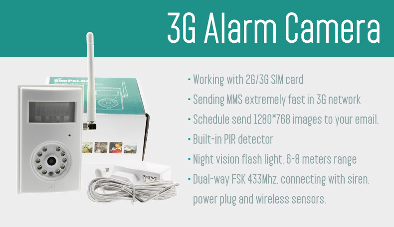 iAlert - Wireless Motion Detection Camera / CCTV (Suporta 3G Sim Card)