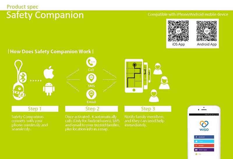 Safety Companion - Personal Emergency Notification Device - How it work