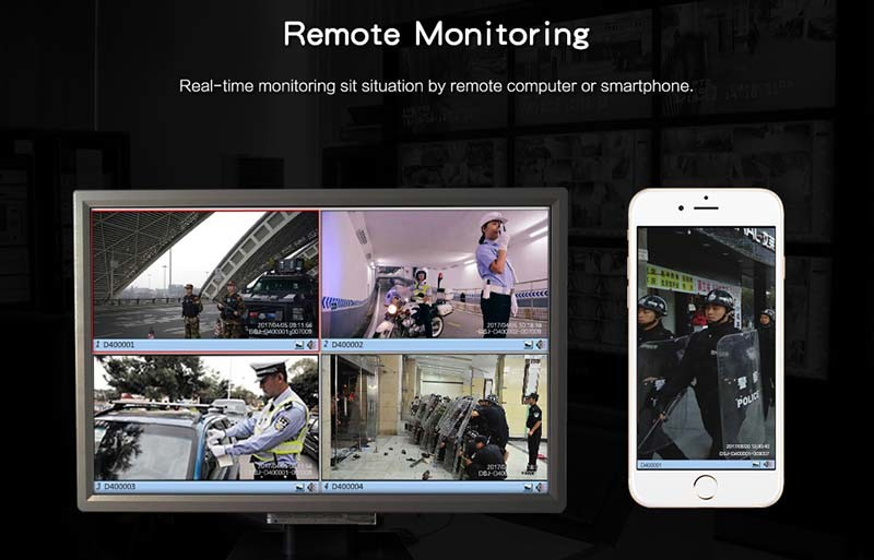 4G Body Worn Camera - Remote Monitoring - S