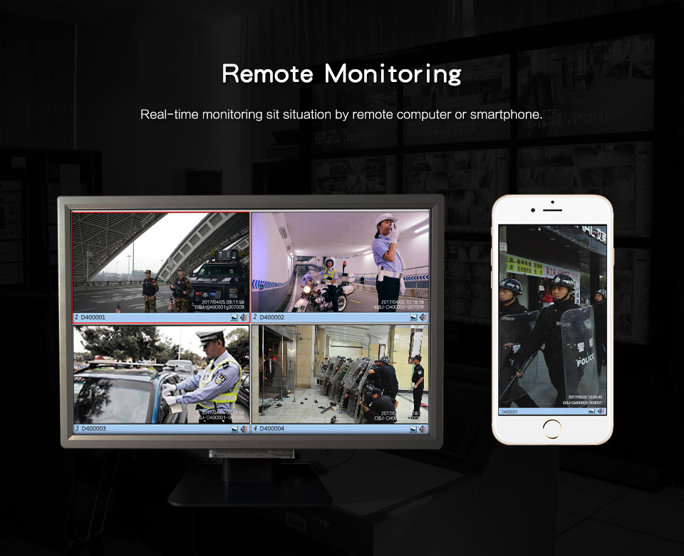 4G Body Worn Camera - Remote Monitoring