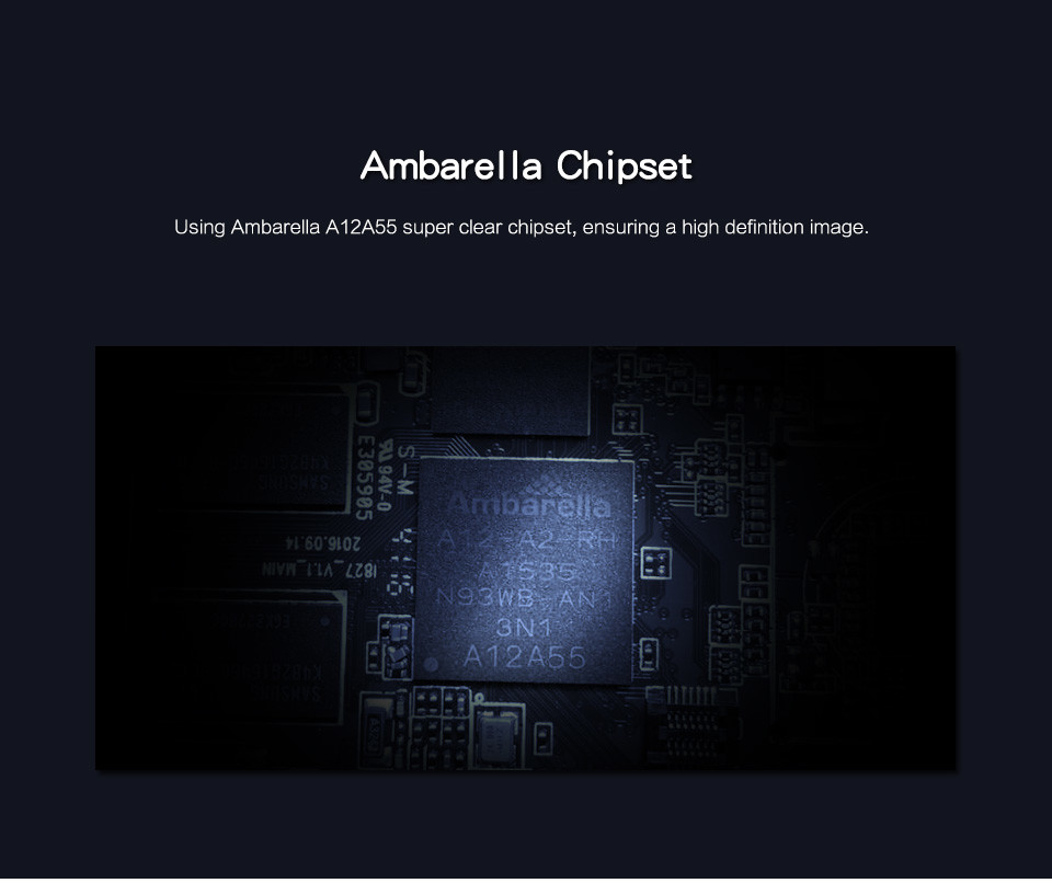 4G Body Worn Camera - Stand - Ambarella Chipset