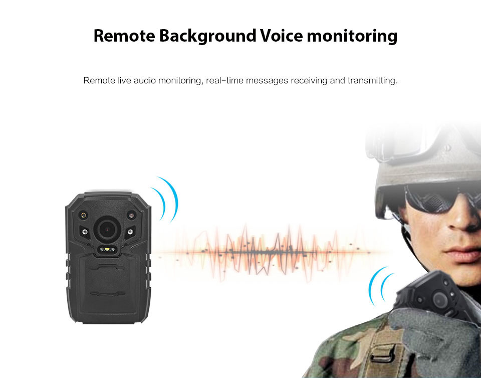 4G Body Worn Camera - Stand - Remote Background Voice monitoring