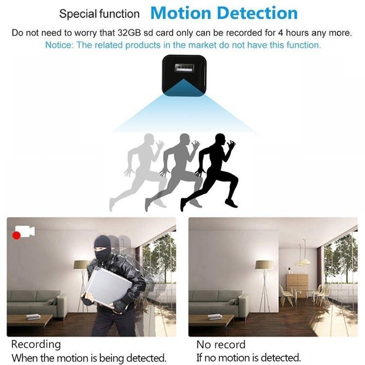 1080P HD USB Wall Charger Hidden Spy Camera - 2