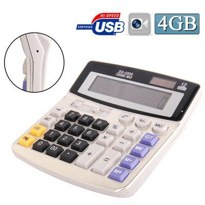 Full sized Solar powered Calculator Spy Camera - 1
