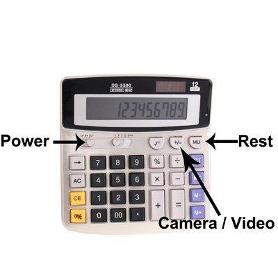 Full sized Solar powered Calculator Spy Camera - 3