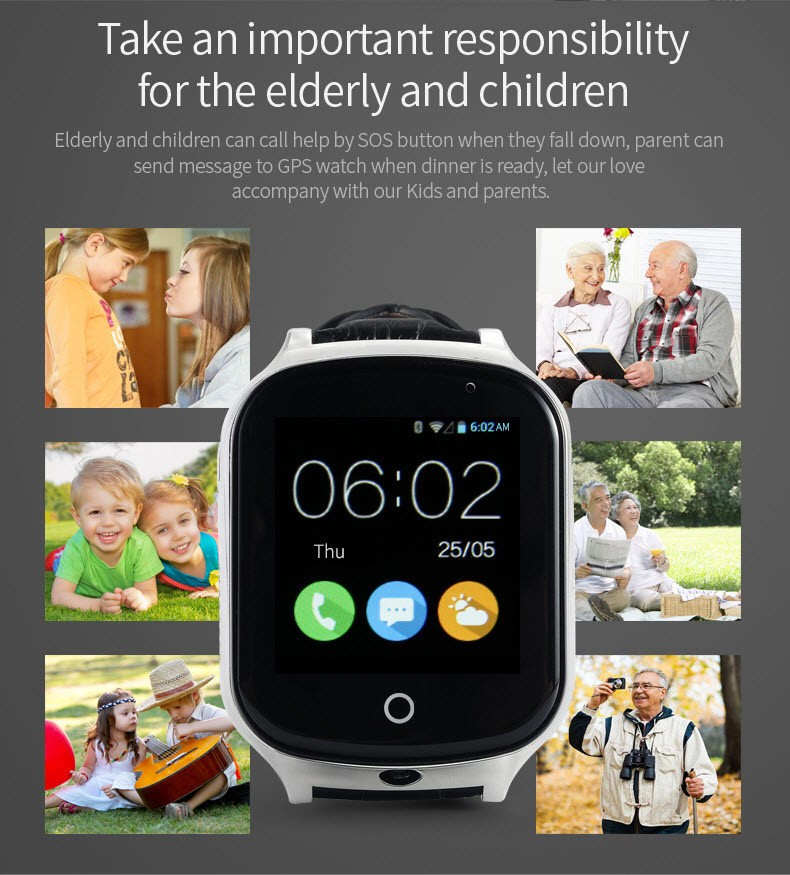 GPS20W - GPS Watch For Kids and Elderly (2)