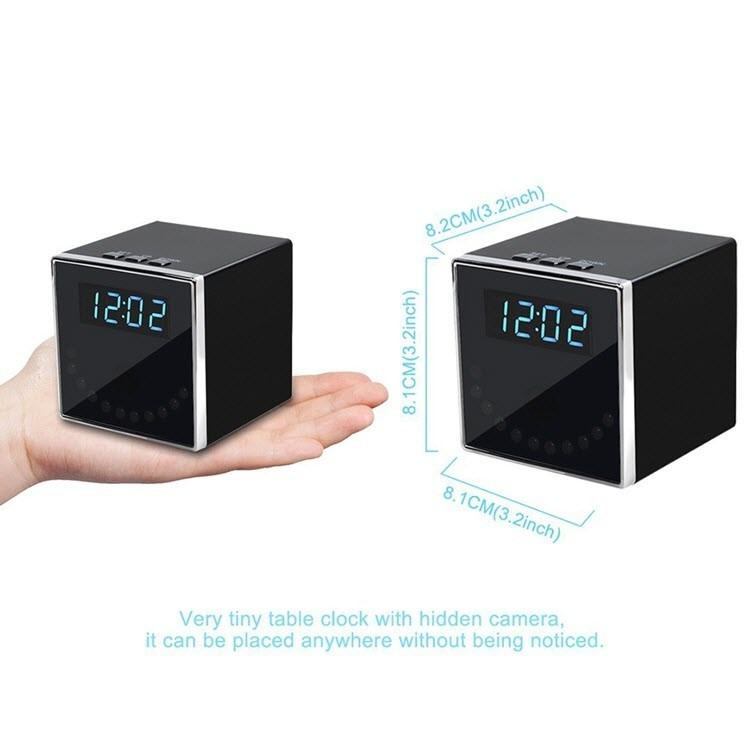 HD 1080P Clock Hidden Camera (Cube WiFi) - 5