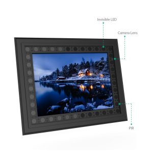 SPY291 - OMG WIFI Clock Photo Frame Camera, HD1080P