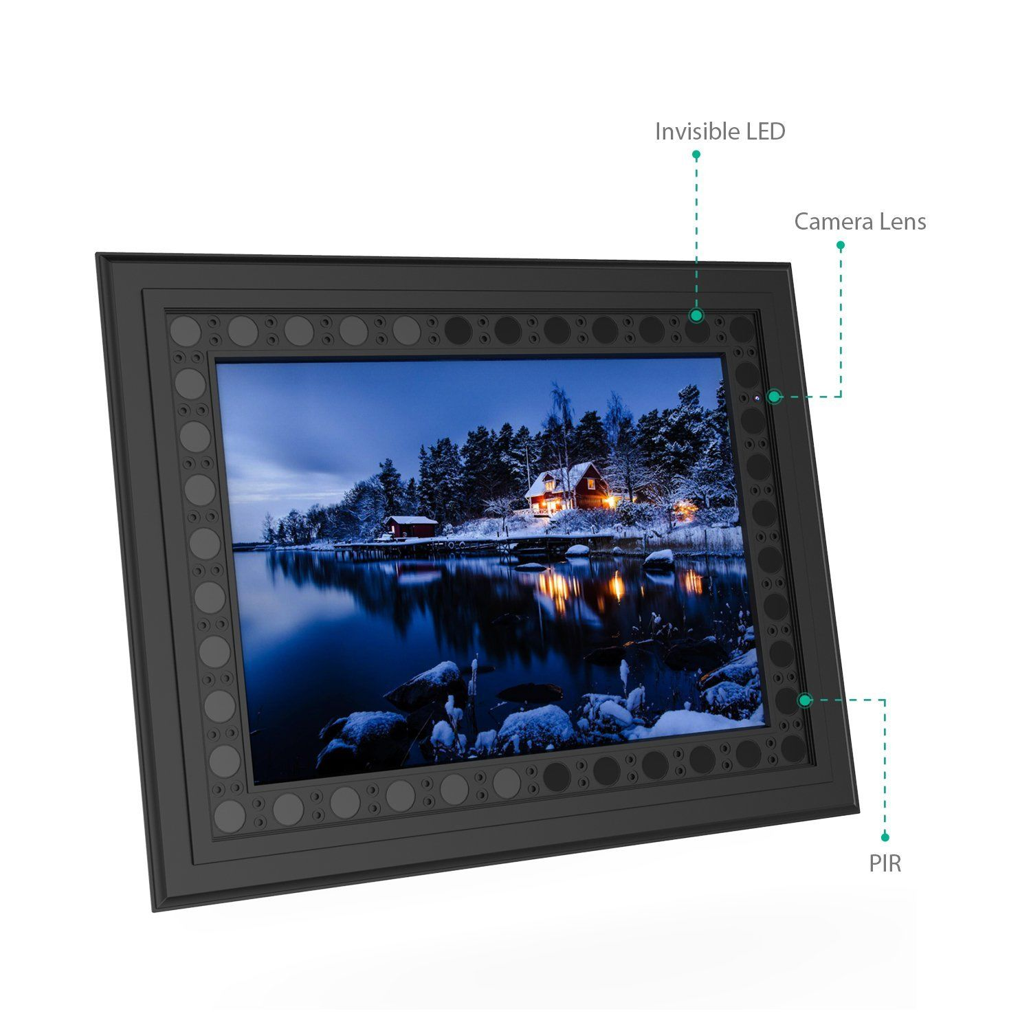 HD 720P Photo Frame Hidden Spy Camera - Main