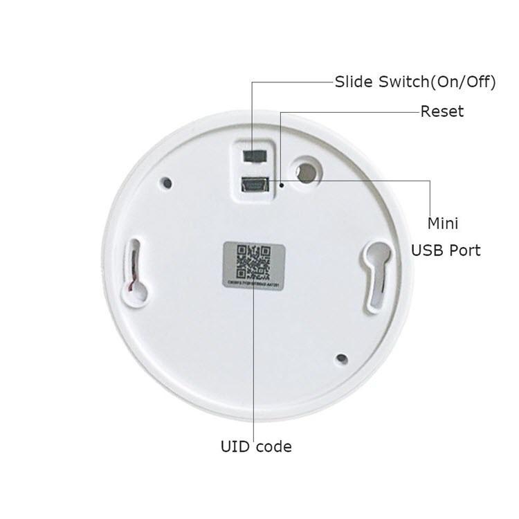 Hidden Spy WiFi Smoke Detector Camera - 5