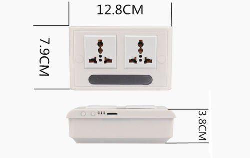 Mini 1080P WIFI HD SPY DVR Hidden IP Camera Real Wall Socket Video Recorder Cam - 3
